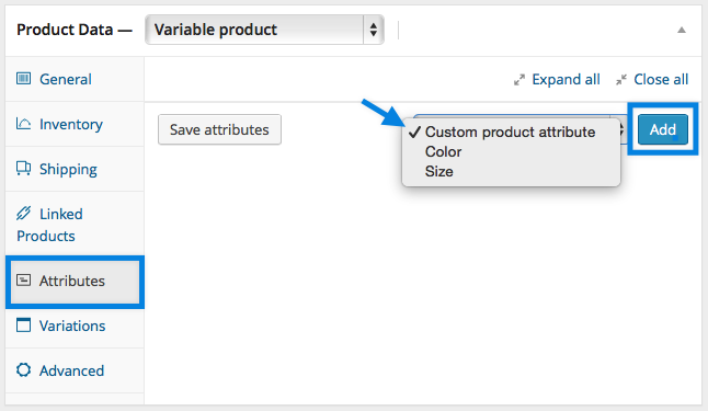Adding Custom Attributes to WooCommerce