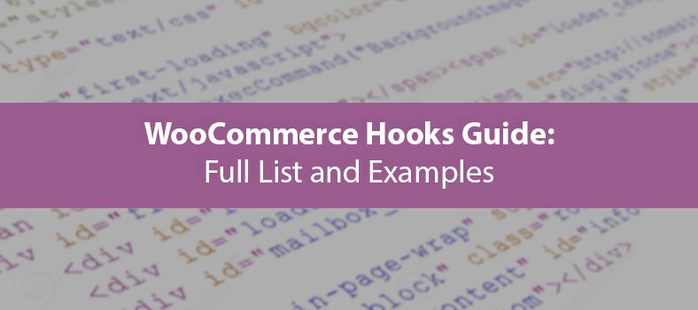 Список хуков для WooCommerce