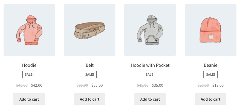 WooCommerce Shortcode - Sale Products