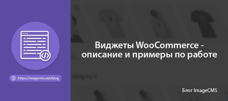 Виджеты WooCommerce